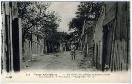 Paris Montmartre Rue Maquis Avenue Junot Animation 1930 état Superbe - Arrondissement: 18