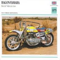 Fiche Technique Moto (Side-car/Attelée)  -   Hagon-Yamaha 844cc Side-car Cross  -  Ton Van Heugten - Altri
