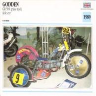 Fiche Technique Moto (Side-car/Attelée)  -   Godden GR500 Grasstrack Side-car  -  Don Godden  - 1989 - Autres