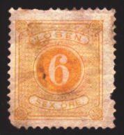 1877-1891 Sweden, Mi 4B, Porto Stamp, MH, CV 3 Euro, Good - Suède