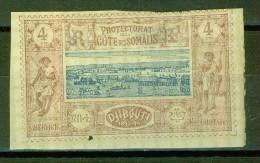 Vue De Djibouti, Guerrier Somali - Cote Française Des Somalis - N° 8 - 1894 - Costa Francesa De Somalia (1894-1967)