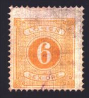 1877-1891 Sweden, Mi 4B, Porto Stamp, MH, CV 3 Euro, VF - Suède