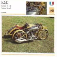 Fiche Technique Moto (Side-car/Attelée)  -  MGC 600cc N3A  -  Side-car Simard  - 1933 - Autres