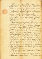 Eugénie Rosalie MERCKAERT - Acte Notarié 1850 - Demande De Conseil Pour Mariage  -- C2/477 - Manuscrits