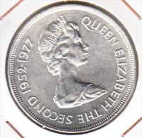 GUERNSEY1977  25 PENCE  CONMMEMORATIVA  25 AÑOS REINADO ISABEL II  .S.C. CN 4064 - Guernsey