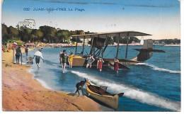 HYDRAVION - JUAN LES PINS - La Plage - Avions