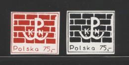POLAND SOLIDARITY SOLIDARNOSC KPN 1987 WW2 ANCHOR PW UPRISING SYMBOLS SET OF 2 WORLD WAR 2 PARTISANS MILITARIA HOME ARMY - Erinnofilia