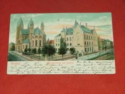 KREFELD  -  Josefkirche  Mit Schule   -   1905   - (2 Scans) - Krefeld