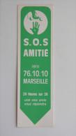 Marque Page S.O.S Amitié Marseille, Années 1970 - Marque-Pages