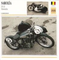 Fiche Technique Moto (Side-car/Attelée)  -  Saroléa 35 C6 Monotube  Course  -    1935 - Autres