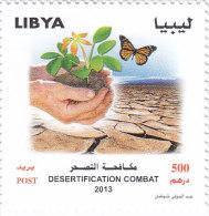 Libya New Issue Deserticification 1v.complete Set BUTTERFLY , MNH - Scarce - Libya