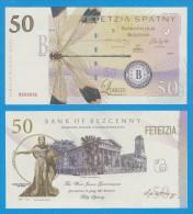 "Territory Of  WEST  JUNEE  50  SPATNY  2.014  SERIES ""B""   SC/UNC/PLANCHA    T-DL-10.941 - Specimen"