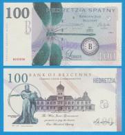 "Territory Of  WEST  JUNEE  100  SPATNY  2.014  SERIES ""B""   SC/UNC/PLANCHA    T-DL-10.942 - Fictifs & Spécimens"