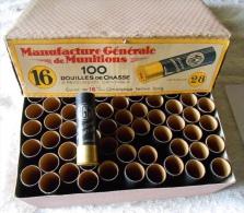 CHASSE: Boite De 100 Douilles Calibre:16 Manuf Générale De Munitions - Militaria