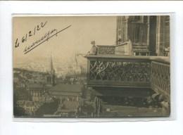 STRASBOURG CARTE PHOTO  VUE PRISE BALCON CATHEDRALE MILITAIRE  1922 J. DIEBOLD 40 QUAI DES BATELIERS - Strasbourg