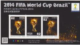 Japan 2014 Block FIFA World Cup Brazil * * Official Trophy - Blocks & Sheetlets