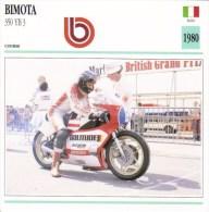 Bimota 350 YB3 Grand Prix  (1980)  -  Jon Ekerold  - Moto De Course - Fiche Technique/Carte De Collection - Motociclismo