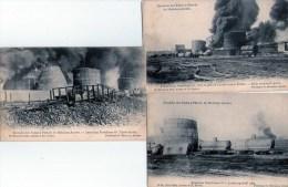 Anvers : 5 Cpa :Incendie Des Tanks à Pétrole (1904) - Antwerpen