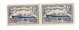 2 Timbres N°299 Paquebot Normandie - Neufs, Très Bon état - Nuevos