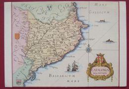 CATALONIA - CATALUNYA CATALOGNE CATALUNA ESPAGNE FRANCE - CARTA CARTE 3 SCANS - Landkarten