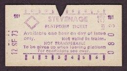 BR Railway Multiprinter Platform Ticket STEVENAGE 1973 - Railway