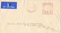 9562. Carta Aerea OXFORD (Gran Bretaña) 1950. Franqueo Mecanico - 1902-1951 (Kings)