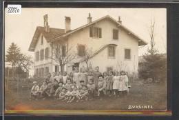 DISTRICT DE ROLLE /// BURSINEL - PHOTO DE CLASSE DEVANT LE COLLEGE - TB - VD Vaud