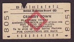 Railway Platform Ticket Grimsby Town BRB(E) Red Diamond Edmondson - Railway