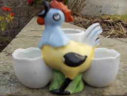 Saliere Et Moutarde Theme Du Coq- - Ceramics & Pottery