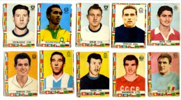 002> Bel Lotto Di 10 Figurine Calciatori Mondiali 1962 Della LAMPO - Trading Cards