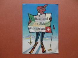 34939 PC:  SWITZERLAND:  Switzerland The Skiers' Wonderland. - Schweiz