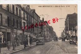93 -MONTREUIL - RUE DE PARIS - STATION ET POMPES A ESSENCE - Montreuil