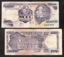 * URUGUAY: 1000 Nuevos Pesos (1981) SERIE B (escasos) - Uruguay