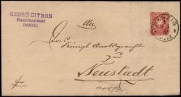 DR 1881 Nr. 41 Brief SONNENBURG > Frankfurt Oder - Deutschland