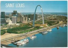 USA - Saint Louis - Aerial View - Bateaux - St Louis – Missouri