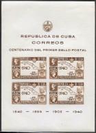 Cuba 1940 Penny Black Sc#C33 MLH CV$15.00  Rowland Hill  A17 - Cuba