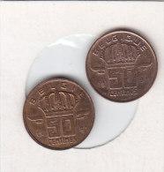 2 X 50 CENTIMES Bronze 1991 FR ET 1991 FL   Qualité++++++++++++++++++ + - 1951-1993: Baudouin I