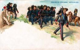 Litho ESERCITO ITALIANO 1900? (Italienisches Heer) - Bersaglier (Scharfschützen) - Regimente