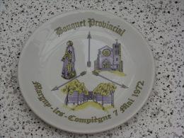 Superbe assiette Bouquet Provincial  Margny les Compi�gne 1972