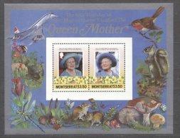 Montserrat 1985 Queen Mother Perf. Sheet MNH S.650 - Montserrat