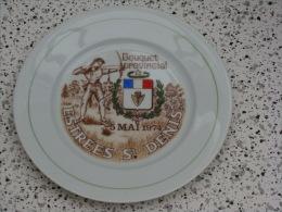 Superbe assiette Bouquet Provincial  Estr�es Saint Denis  1974