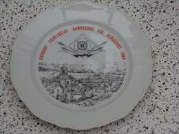 Superbe Assiette Bouquet Cambronne Les Ribecourt  1983 - Tir à L'Arc