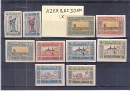 Yv.18/27 (X)/Without Gum - Symboles Nationaux - Série Complète - Azerbaïdjan