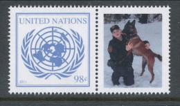 UN New York 2011. Scott # 1023. 98 C UN Emblem With Lable, MNH (**) - New York - Hoofdkwartier Van De VN