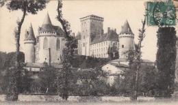 16 - ANGOULÊME - La Rochefoucault  - Le Château - Voyagé Timbre Perforé C.L. - Angouleme