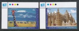 UN New York 2012. Scott # 1051-1052. World Heritage Africa, MNH (**) - New York – UN Headquarters