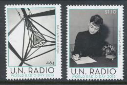 UN New York 2012. Scott # 1056-1057. World Radio Day 2013, MNH (**) - Nuovi
