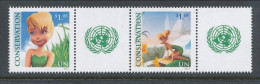 UN New York 2012. Sc # 1046-1047.  Conservation Pair With Lable, MNH (**) - Nuovi