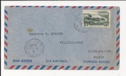 Lettre De Saint Pierre Et Miquelon De 1954  Pour La France - YT N°341 - Enveloppe - St.Pierre & Miquelon