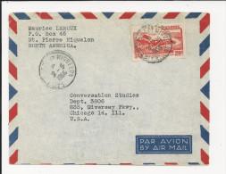 Lettre De Saint Pierre Et Miquelon De 1956  Pour Les USA - YT N°342 - Enveloppe - St.Pierre & Miquelon